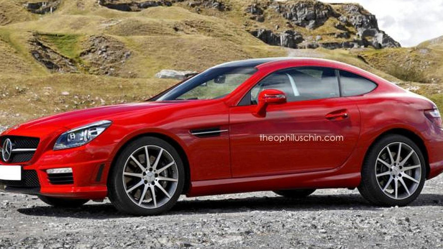 Mercedes-Benz SLK Coupe renders show great potential for Porsche Cayman rival