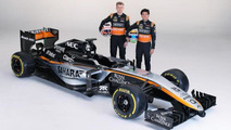 Force India shows new livery, 2015 nose