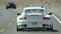 Porsche GT2 and 911 Facelift Spied in the Desert