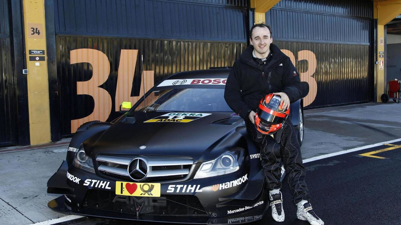 Robert Kubica, DTM Mercedes AMG C-Coupe. Valencia. Testing. 24.01.2013