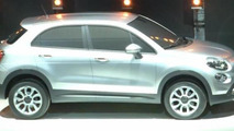 Fiat 500X crossover surprise reveal at press launch