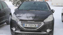 High Performance 2013 Peugeot 208 GTI prototype spy photo