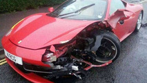 Car washer/detailer wrecks Ferrari 458 Italia