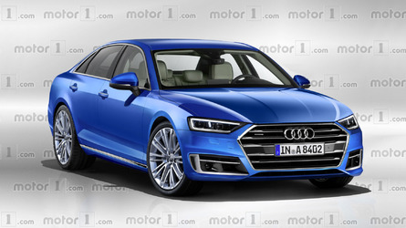 2018 Audi A8 render sees into the flagship's future