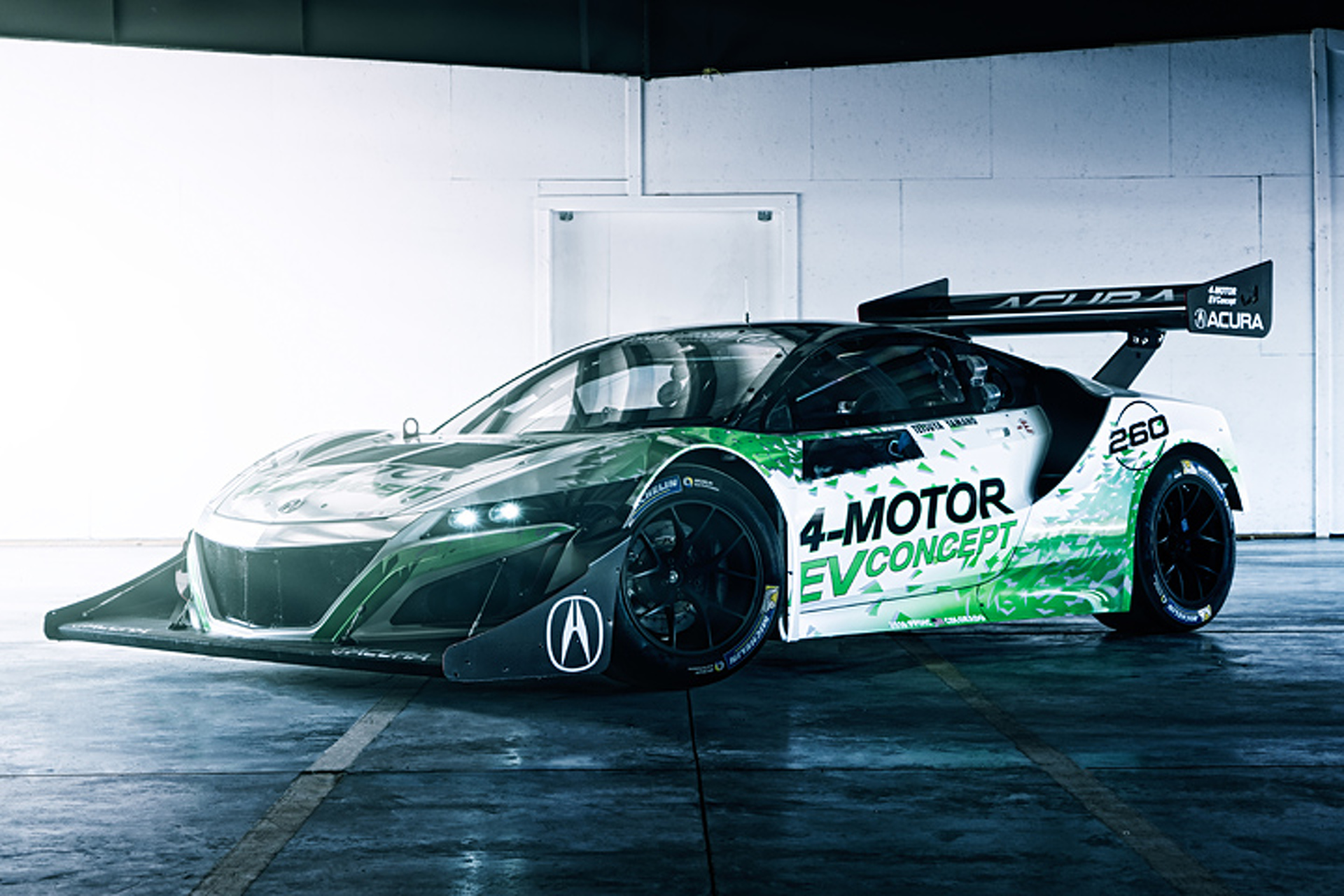 Acura NSX Goes All-Electric for Pikes Peak 2016