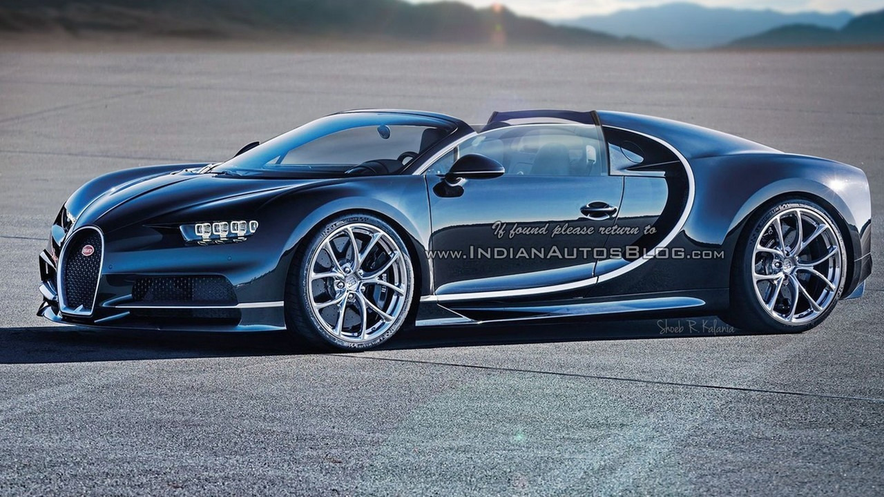 Bugatti Chiron roadster speculative renders Photos | Bugatti Chiron