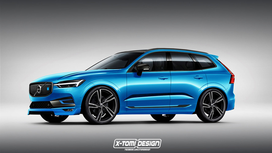 Volvo XC60 looks blue-tiful in Polestar rendering