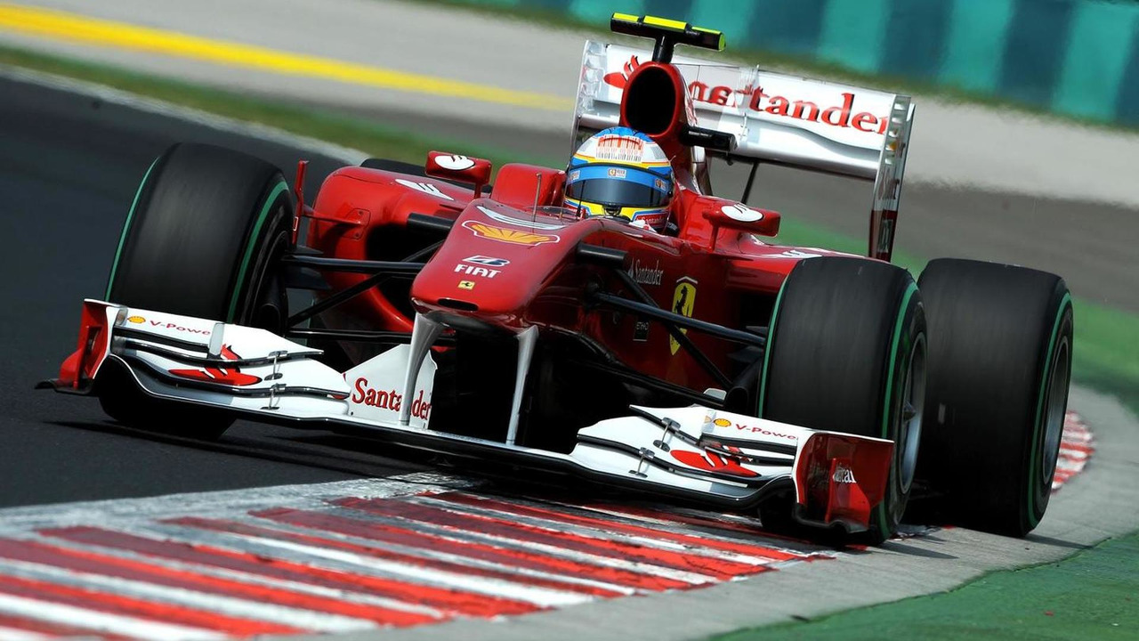Ferrari's Fernando Alonso during qualifying for Hungarian Grand Prix