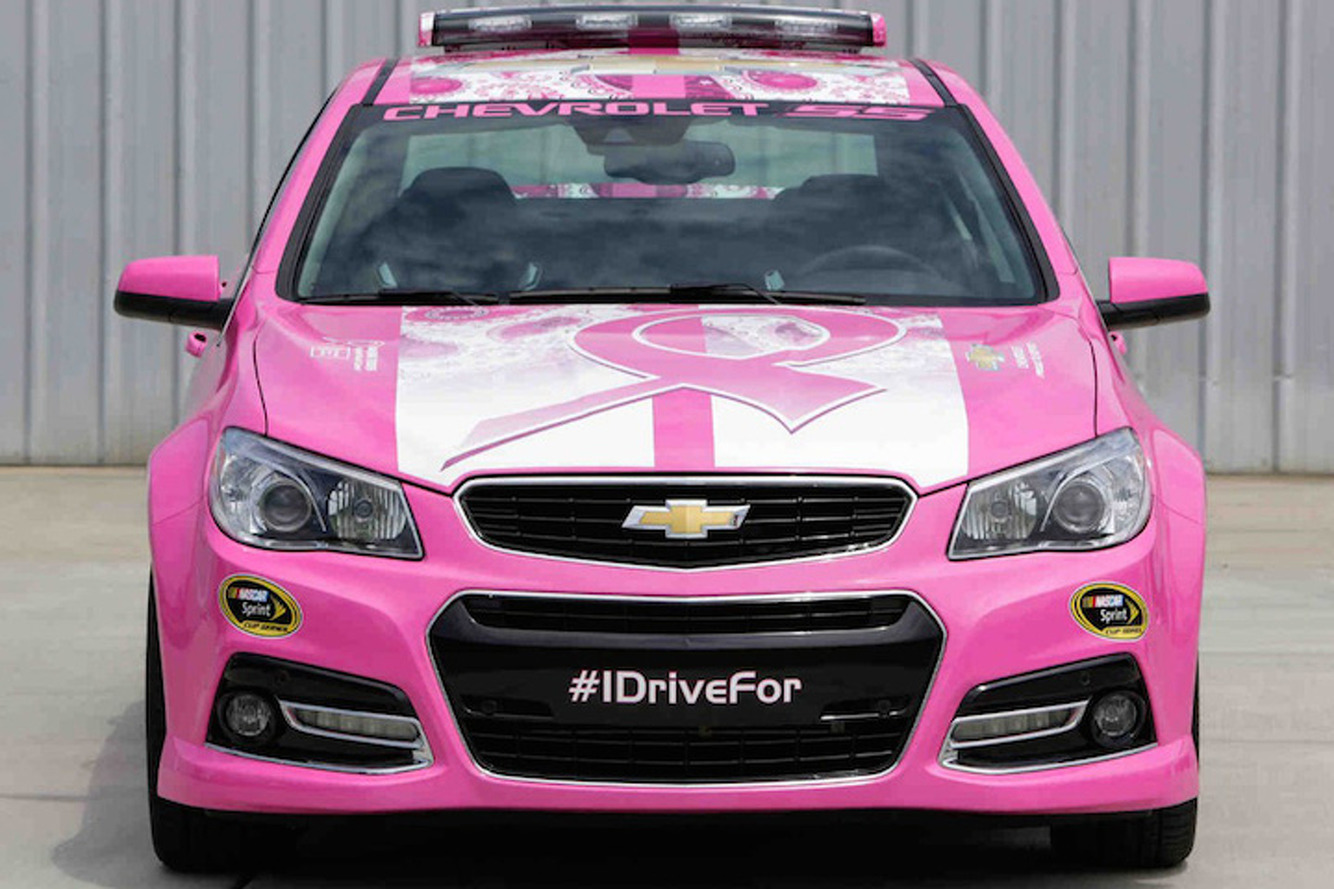Chevrolet SS Goes Pink at NASCAR to Fight Breast Cancer