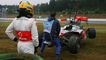 Lewis Hamilton (GBR), McLaren Mercedes crashed during the session , German Grand Prix, Friday, 23.07.2010 Hockenheim, Germany