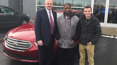 Ford dealer gives 2015 Taurus to man who walked 21 miles to work daily in last 10 years