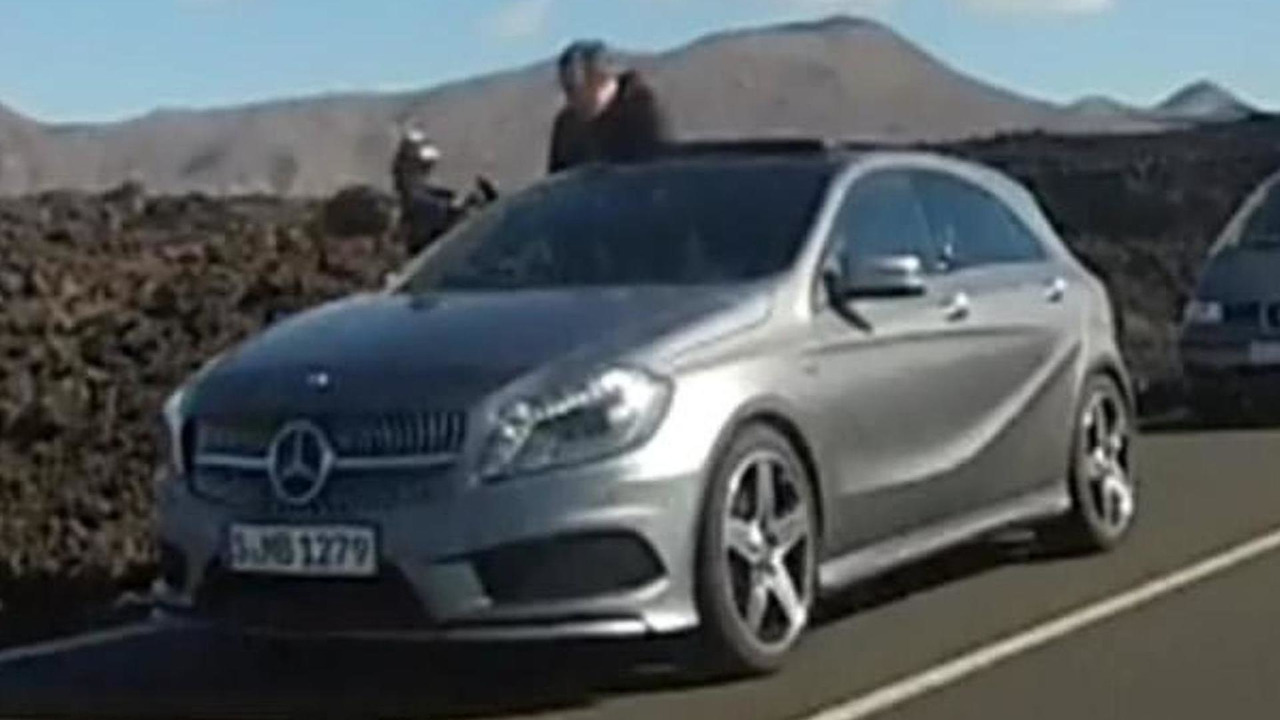 2013 Mercedes A-Class caught undisguised