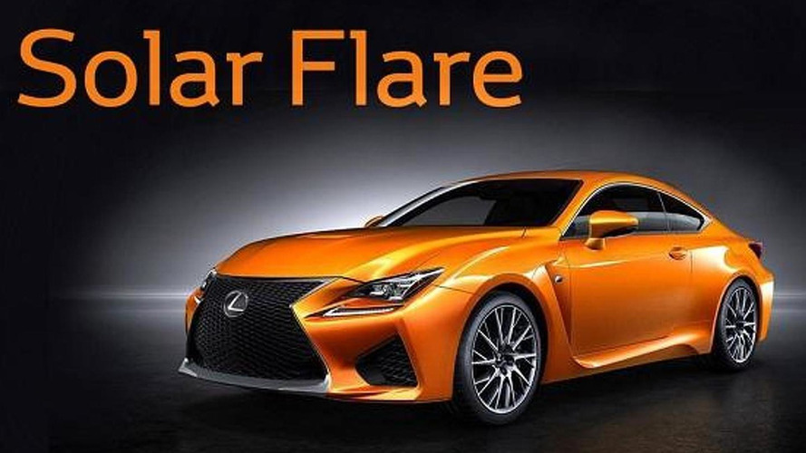 Lexus RC F color competition ends with 'Solar Flare' winner