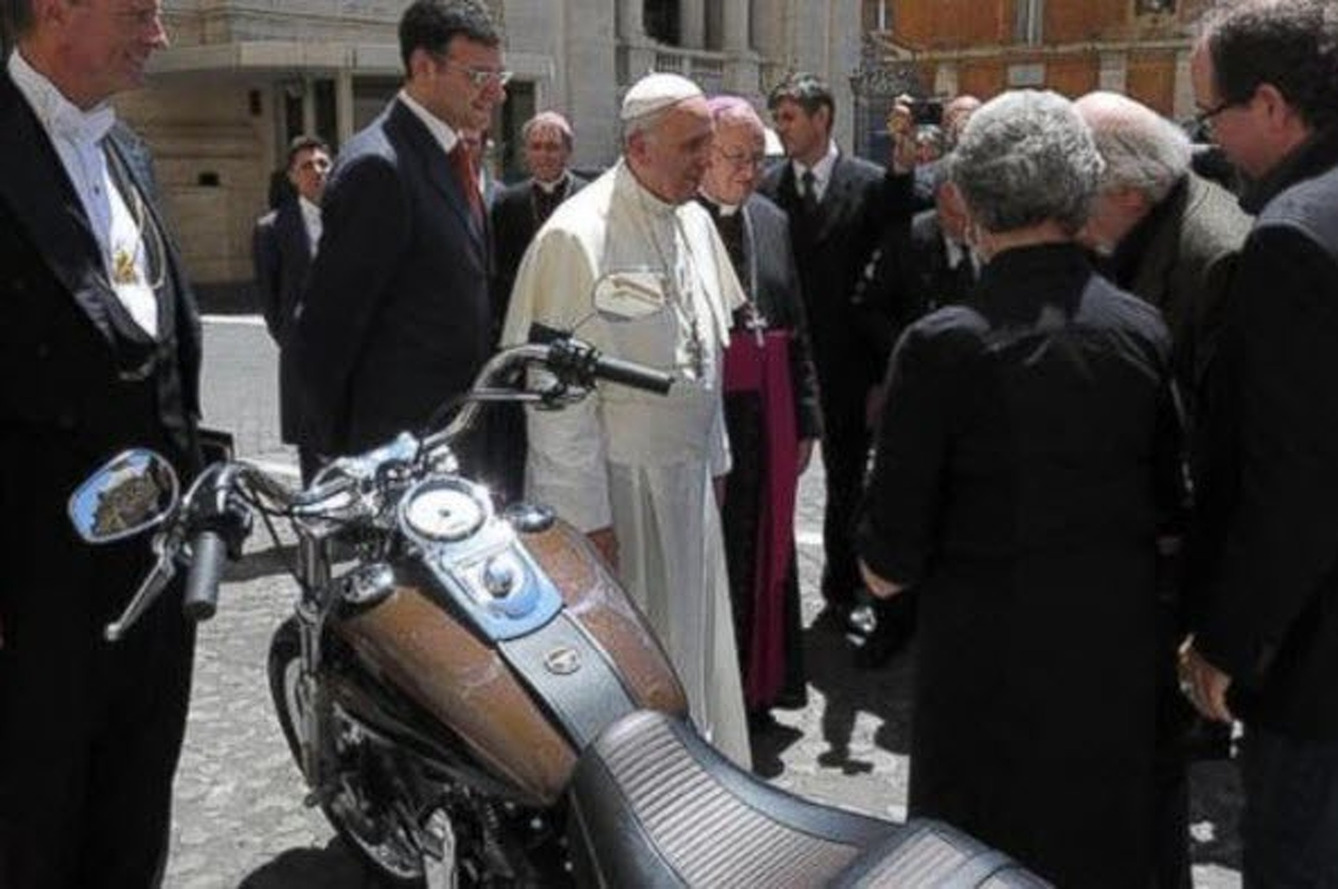 Bonham's is Selling the Pope's Harley