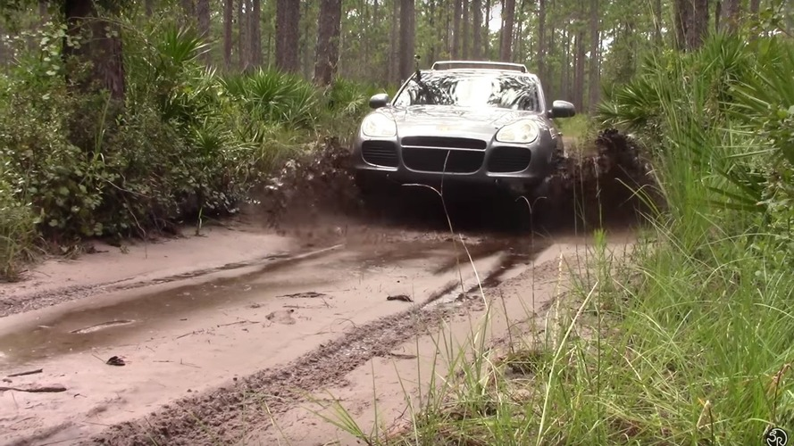 Watch a Porsche Cayenne Turbo go off-roading