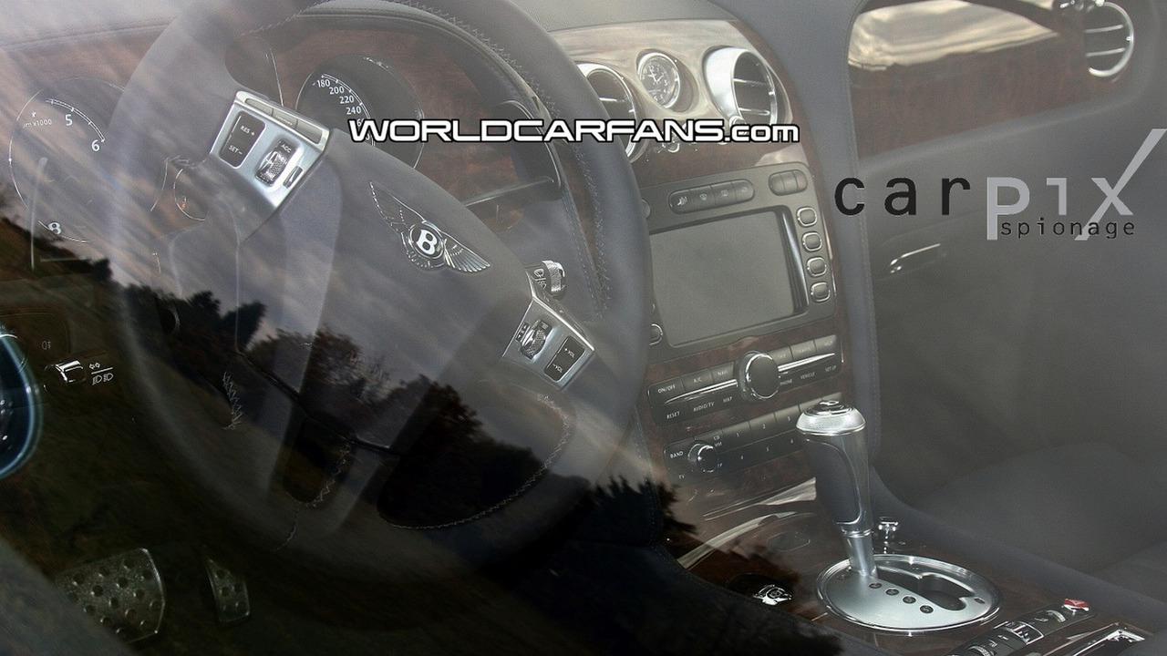 Bentley Continental GTC Speed Interior Spy Photo