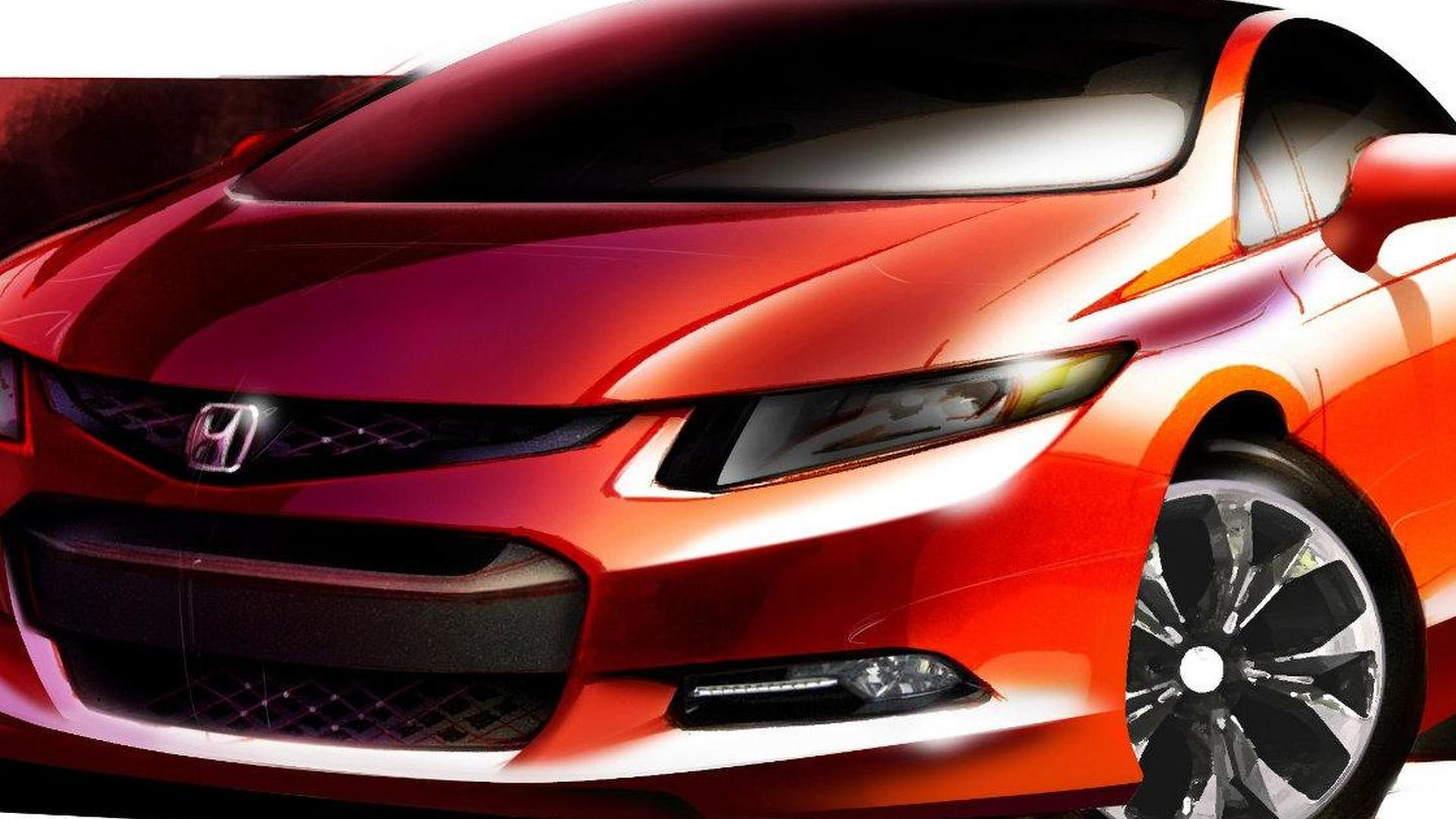 Honda Civic Concept previewed for world debut in Detroit