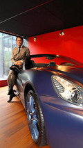 Lapo Elkann with the Ferrari California personalised with the Tailor-Made program 07.12.2011