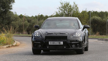 2017 Bentley Continental GT spied hiding underneath shortened Porsche Panamera body