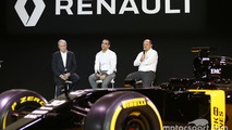 (L to R): Jerome Stoll, Renault Sport F1 President with Cyril Abiteboul, Renault Sport F1 Managing Director and Frederic Vasseur, Renault F1 Team Racing Director