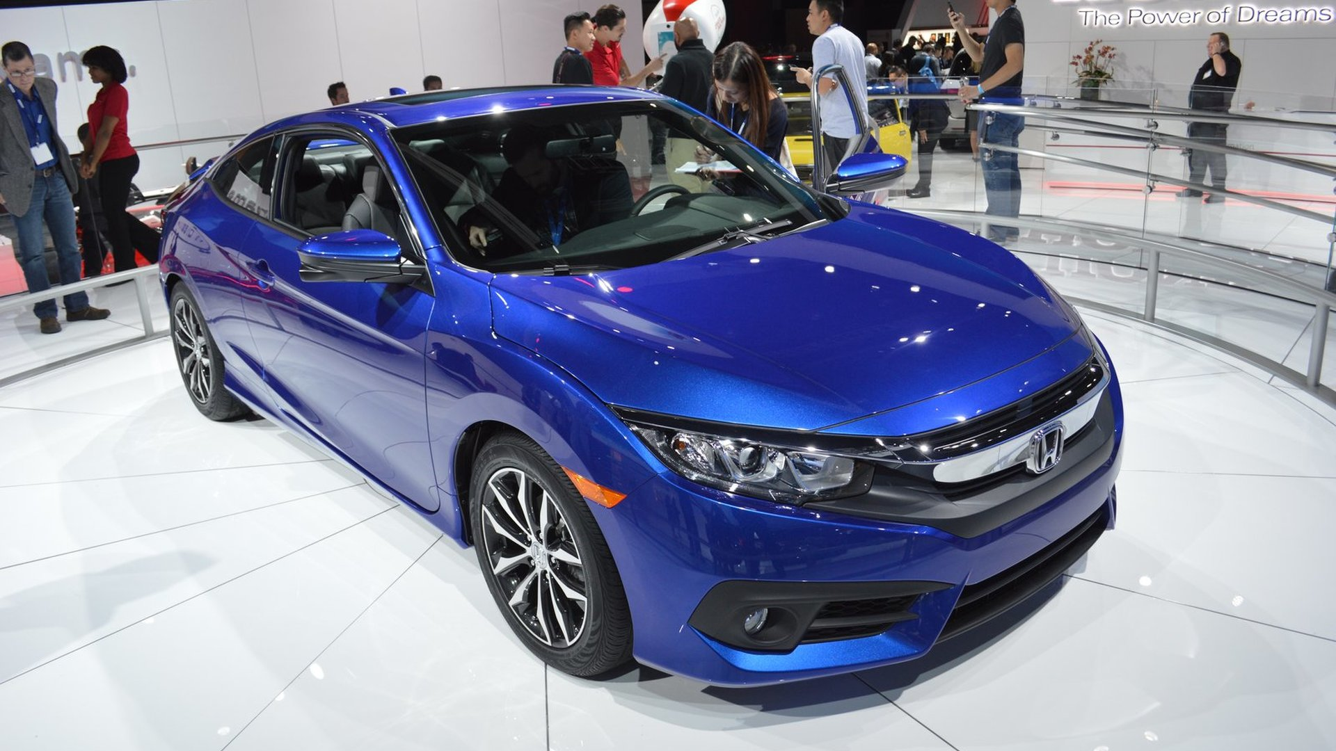 2016 honda civic coupe unveiled with an optional turbocharged engine. Black Bedroom Furniture Sets. Home Design Ideas