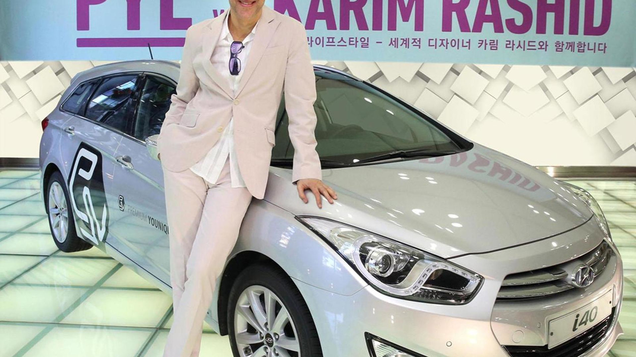 Karim Rashid with a Hyundai i40 27.2.2013