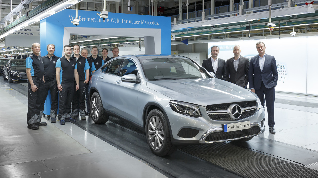 Mercedes-Benz GLC Coupe on the assembly line