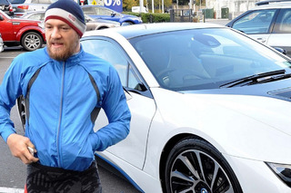 UFC Champ Connor McGregor in a BMW i8 Brandishing a Gun?