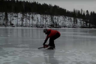This is Chainsaw Ice Racing...Have 9-1-1 on Speed Dial