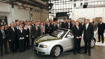 100,000 Audi A4 Cabriolet models produced
