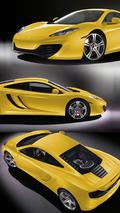 2010 McLaren MP4-12C Yellow Livery 2