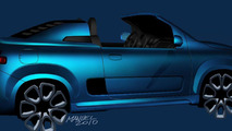 Fiat Uno Cabrio concept exterior sketches, 1600, 26.10.2010