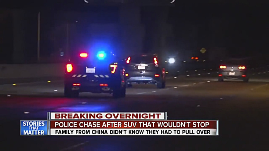 Chinese tourists lead police chase, not knowing what blue lights mean