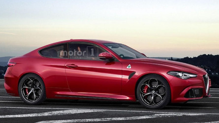 Alfa Romeo Giulia Coupe Quadrifoglio is only a speculative render
