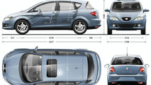 SEAT Toledo body dimensions