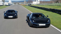 Jenson Button, Lewis Hamilton, on track with McLaren MP4-12C, Woki, England, 18.03.2010