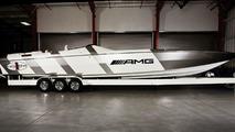 Mercedes SLS AMG Inspired Cigarette Racing Boat - 17.02.2010