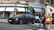 Disguised Volvo S60 testing pedestrian protection system in Copenhagen