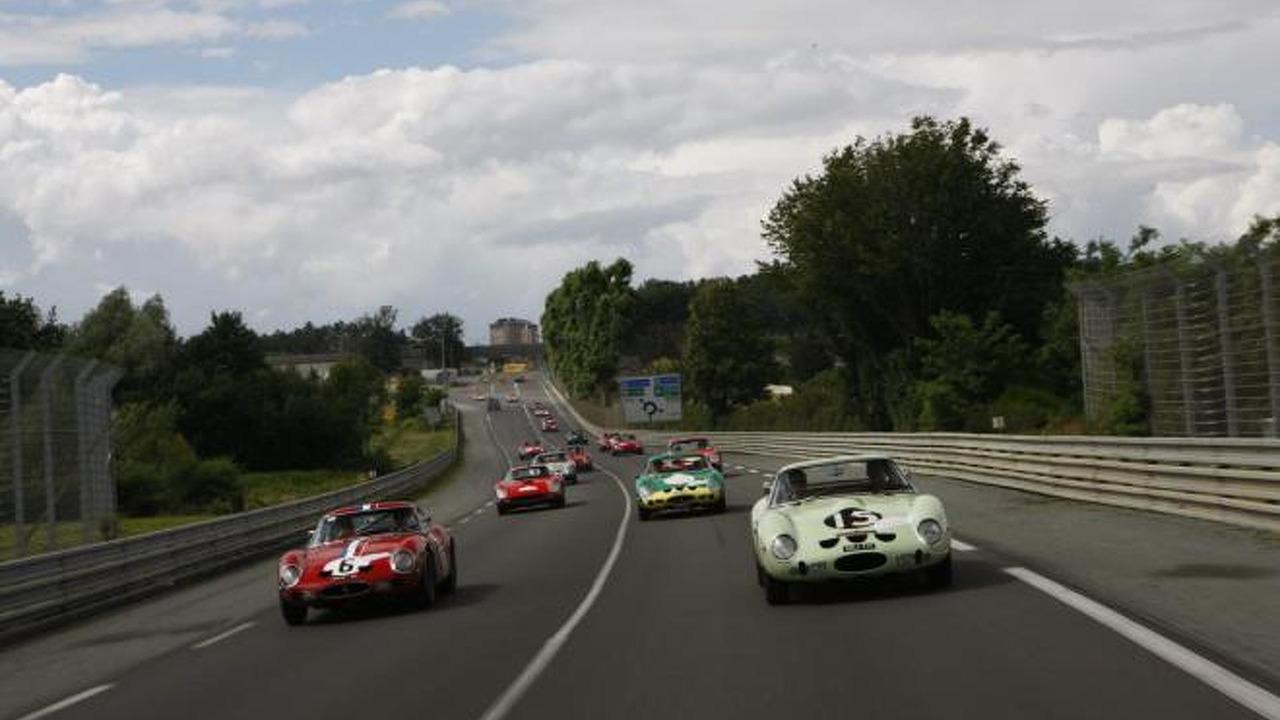 Ferrari 250 GT parade headed for the Le Mans Classic