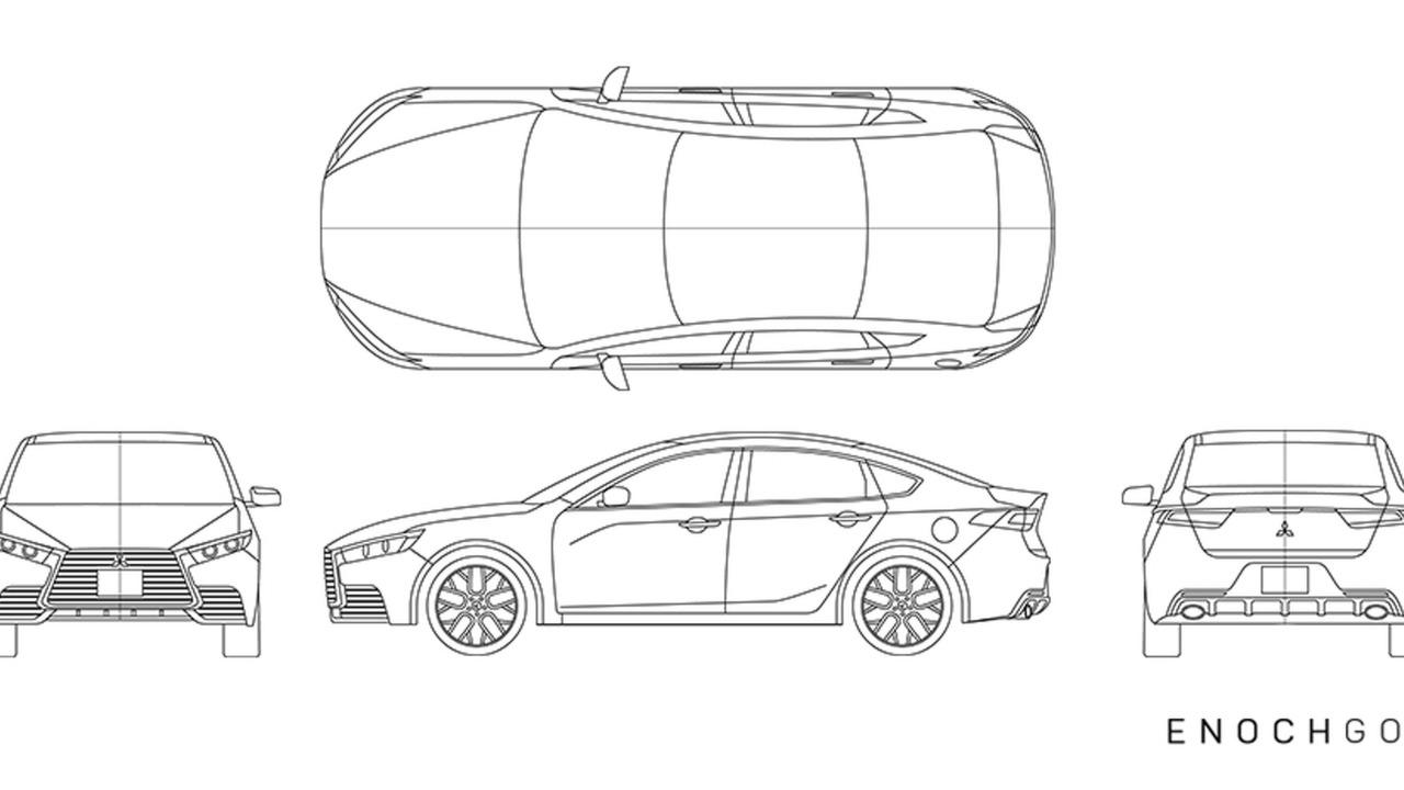 2018 Mitsubishi Lancer rendering