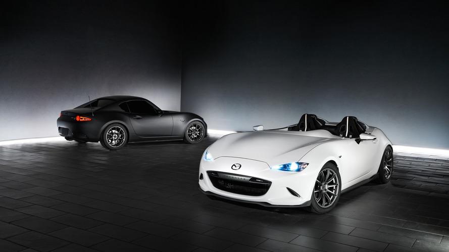 Mazda's featherlight MX-5 Speedster and RF Kuro presented for SEMA