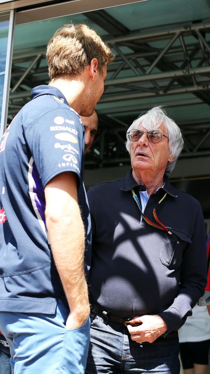 Sebastian Vettel (GER) with Bernie Ecclestone (GBR) / XPB