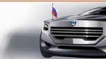 Russian presidential limo concept by Sergei Kavun 25.2.2013