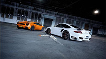 Lamborghini Gallardo and Porsche 911 Turbo with ADV.1 wheels, 1024, 23.12.2011