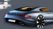 Modern day Volvo P1800 sketched by Volvo design director