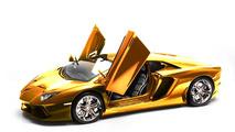 Gold Lamborghini Aventador LP700-4 scale model by Robert Wilhelm Gülpen
