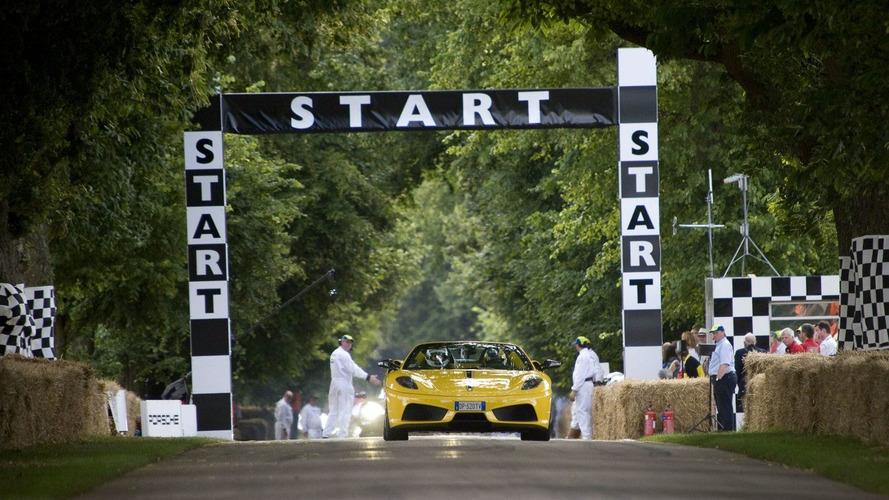 Ferrari Scuderia Spider 16M hillclimb at Goodwood FOS 2009 on video