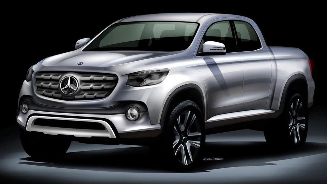 Mercedes pickup truck rendering