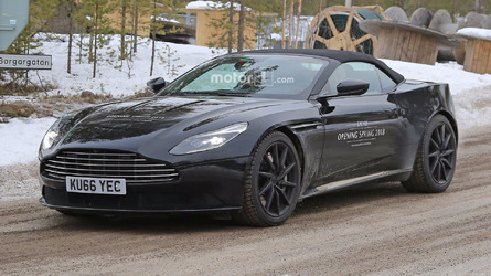 2018 Aston Martin DB11 Volante spied up close and personal