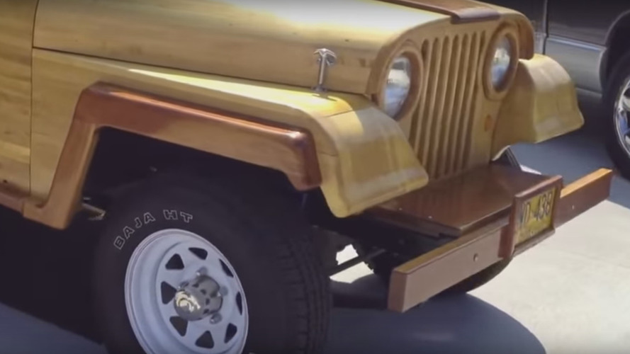 This Jeep CJ-5 gives new meaning to the term 'woody'